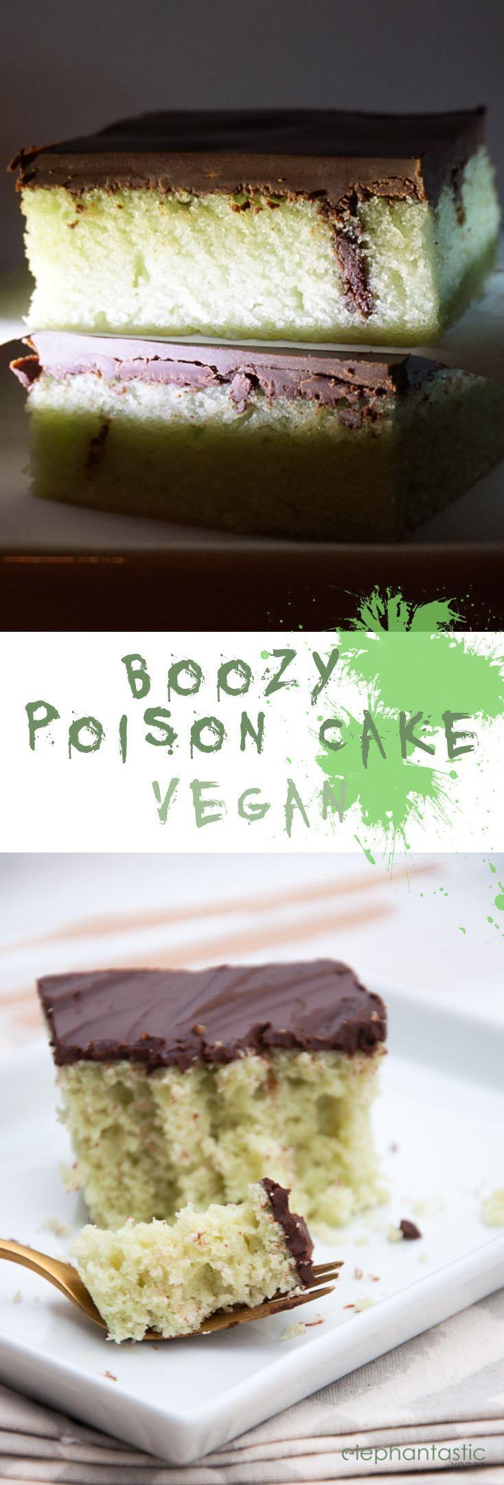 Boozy Poison Cake   http://ElephantasticVegan.com