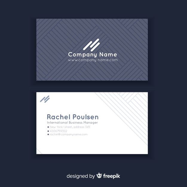 Abstract Geometric Business Card Templat Premium Vector Freepik Vector Busine Business Card Pattern Business Card Template Free Business Card Templates