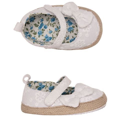 Hippo + Friends Baby Embroidered Ballet Shoes