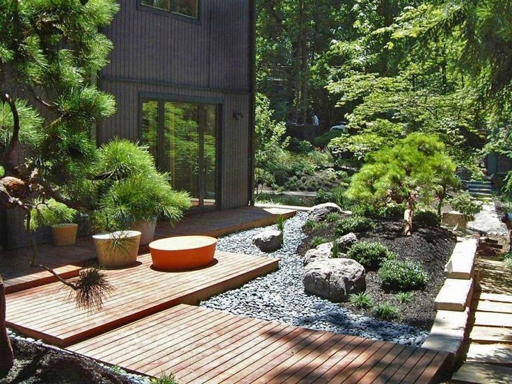 diy inexpensive backyard zen