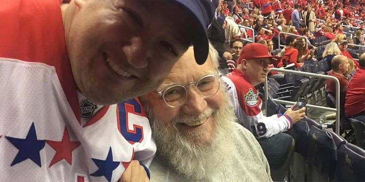 Your photos with David Letterman at the Caps game. The Verizon Center was graced by Letterman, sporting a haggard white beard and grungy grey sweats, and Dave was highlighted on the Jumbotron during the first period | Russian Machine Never Breaks