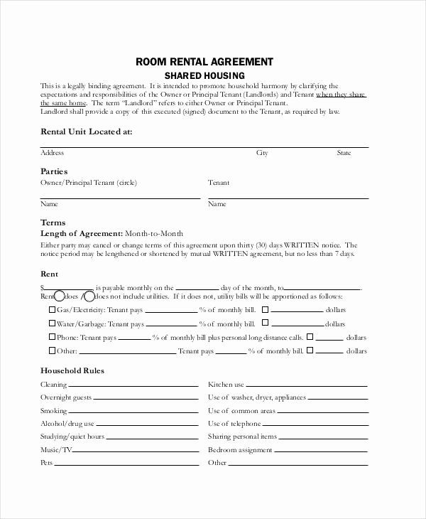 Room Rental Agreement California Free Form New Rent Agreement Form 9 Free Word Pdf Documents Room Rental Agreement Rental Agreement Templates Rental Agreements