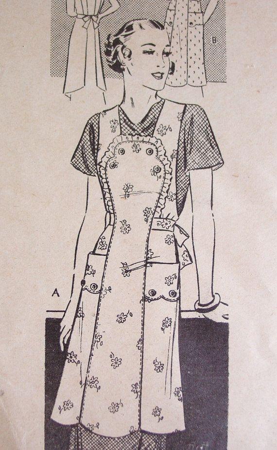 Vintage Apron Pattern  Gorgeous Anne Adams by FancyMyFabrics, $18.00