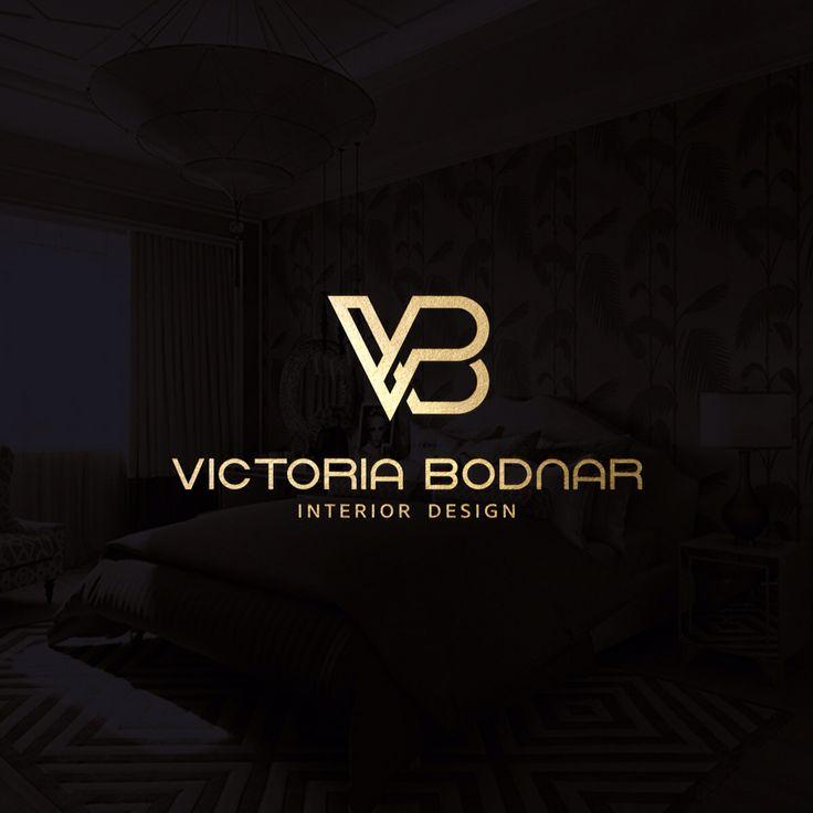 Gold version of logotype for Interior Designer Victoria Bodnar (Kiev | 2016)  Tsaritsyn Design www.behance.net/tsaritsyndesign www.facebook.com/EugeneTsaritsynDesign www.instagram.com/tsaritsyndesign