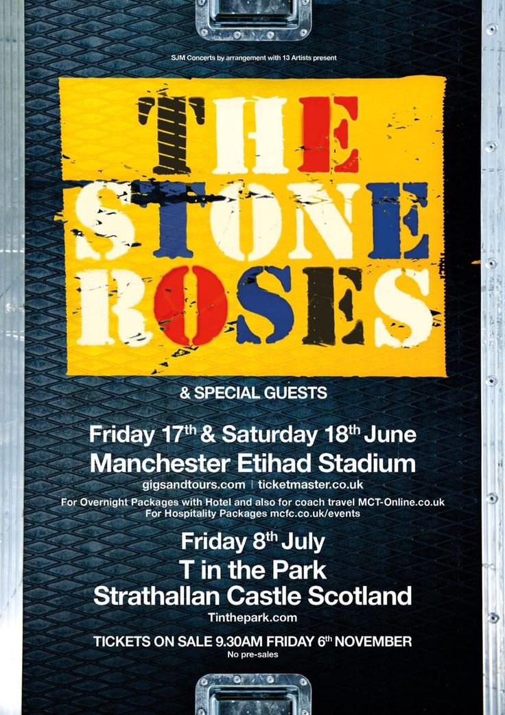 Here it comes...  Stone Roses 2016! Had a cheeky heads up and booked my hotel yesterday. Now the real mission begins - Operation: Get Tickets!!!