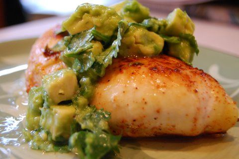 Lime avocado chicken