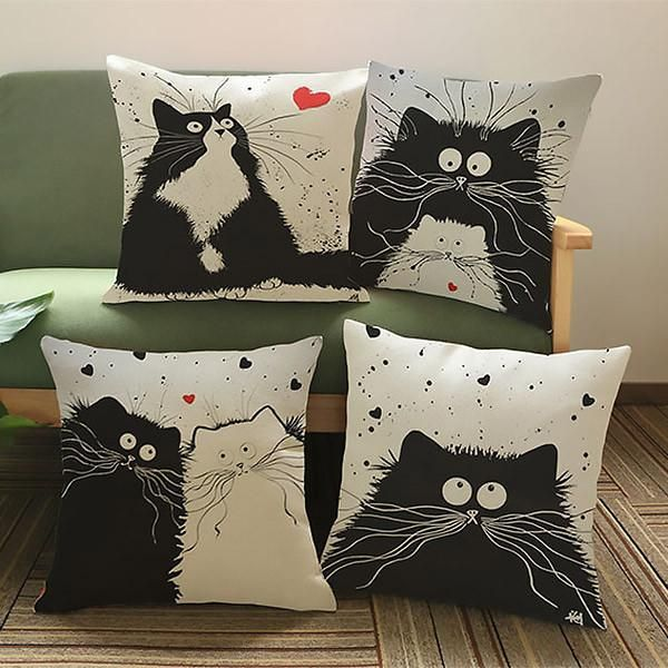 Cartoon Cat Lovers Cushions                                                                                                                                                     More