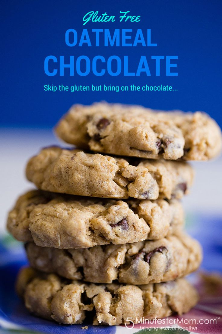 Gluten Free Oatmeal Chocolate Chip Cookies - These look so amazing!