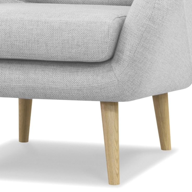 Contemporary Oak Feature Chair (Light Grey) - FREE SHIPPING AUSTRALIA WIDE