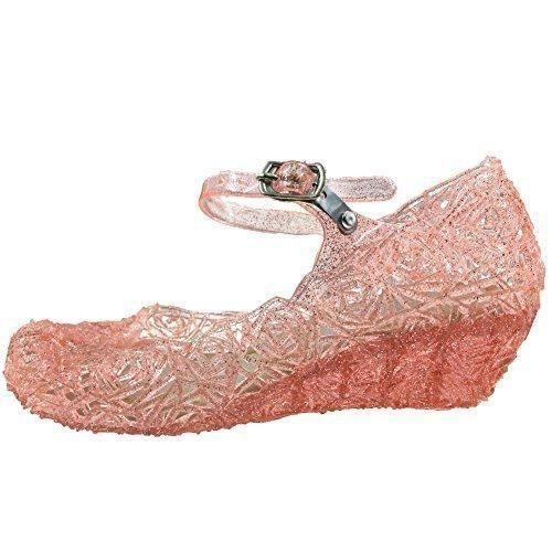 Oferta: 10.99€. Comprar Ofertas de Tyidalin Niña Bailarina Zapatos de Tacón Disfraz de Princesa Zapatilla de Ballet para 3 a 12 Años Rosa EU28 barato. ¡Mira las ofertas!
