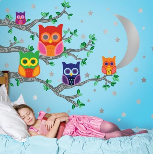 "i think i like this ""owl"" theme for a kid's room no"