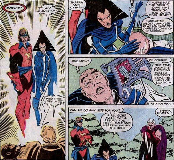 Corsair Empress Lilandra Nerimani Professor Charles Xavier And Magneto Uncanny X Men Vol 1 200 X Men Professor Charles Xavier Men