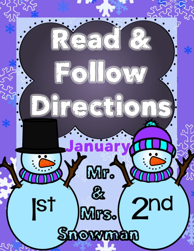 Read and Follow Directions with Mr. and Mrs. Snowman!  This following directions activity is perfect to use during Small Group instruction with your PK-K students or to use as an independent activity for 1st-2nd graders.   You can use this for a reading grade or it can be used at a center just for fun!