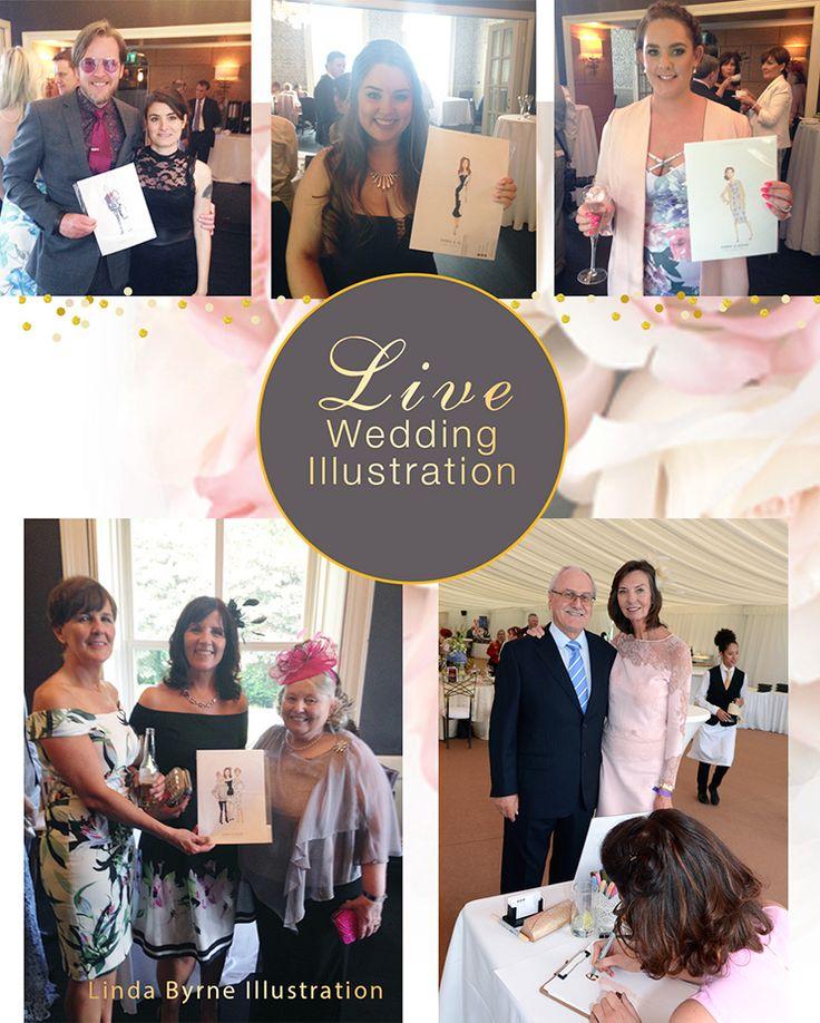 Linda Byrne Illustration, Live Wedding Illustration, Wedding illustrator, Ireland, Wedding Artist