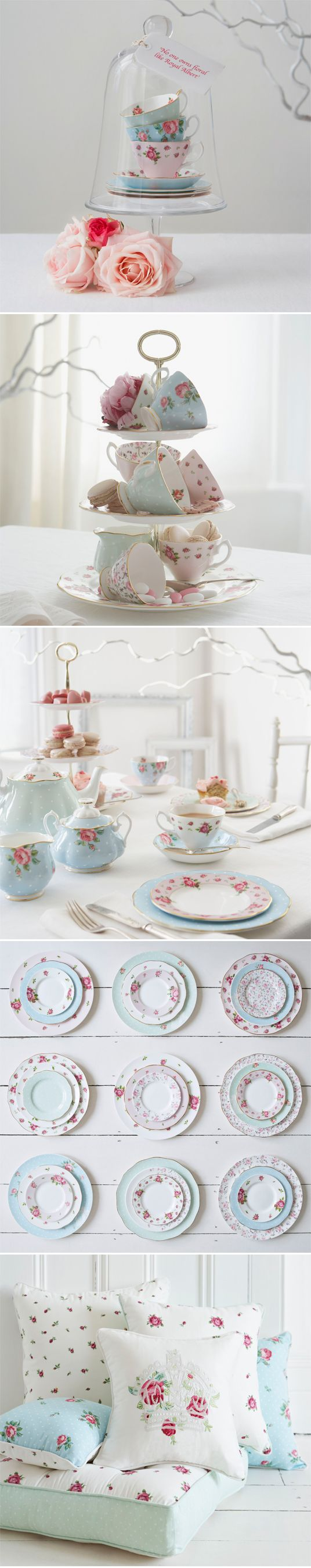 Royal Albert ... If only I could throw out all my old mugs & cups & just use pretty china, oh how happy I would be <3
