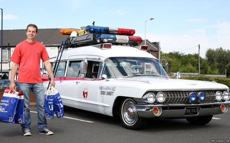 A Man Recreates the Iconic Ecto-1 Ghostbusters Car From a Classic 1960 Cadillac Miller-Meteor