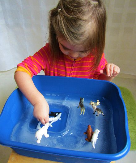 Arctice Ice Sensory Play
