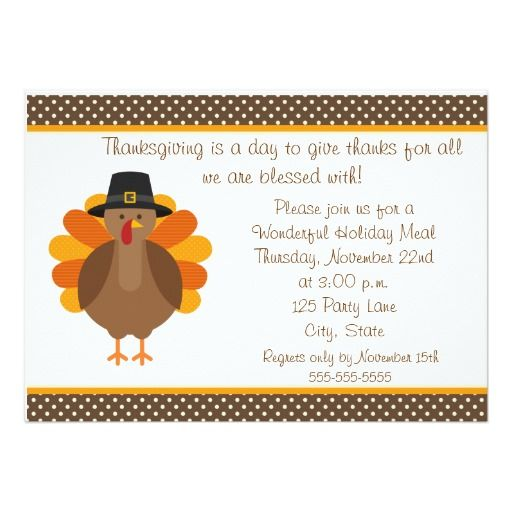 255 best thanksgiving invitations images – Thanksgiving Party Invite