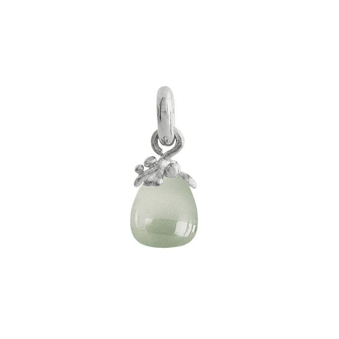 Sweet Drops charm in 18K white gold with aquamarine - Charms | OLE LYNGGAARD COPENHAGEN