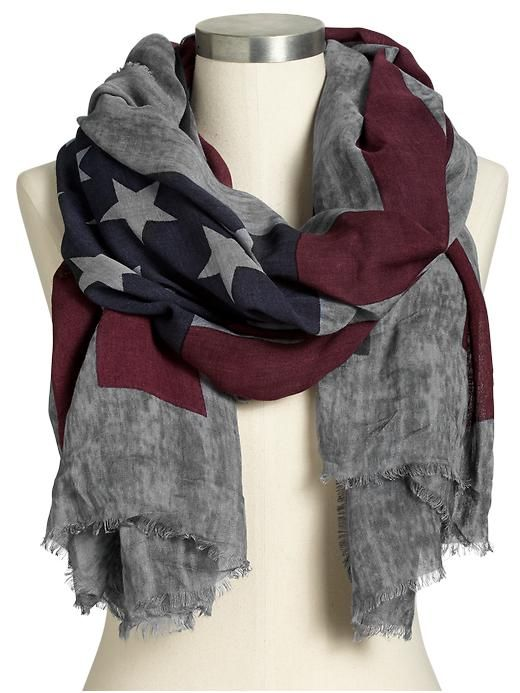 Very cool.... Women's Flag-Print Scarves Product Image
