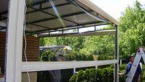 Copertine Parasolar Retractabile Vertical Transparente - Rulouri Rulouri Transparente Casetate