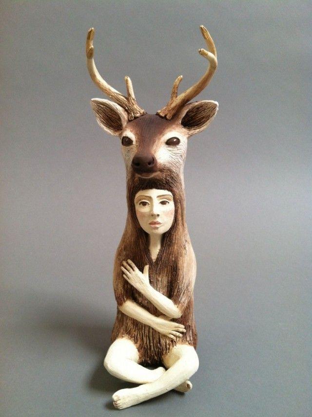 Crystal Morey Ceramic Sculptures Ceramic Sculpture Ceramic Animals Sculptures