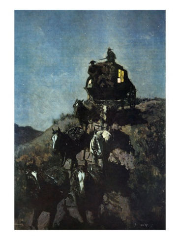Frederic Sackrider Remington  The Old Stage Coach of the Plains