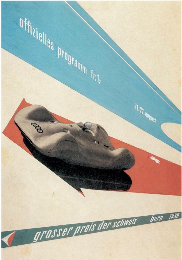 Max Huber Motoring poster Swiss.