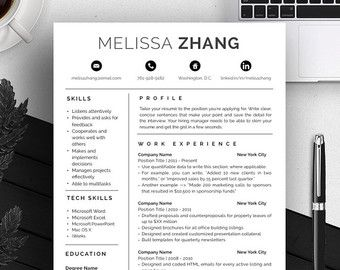 CV Template Professional Resume Template by PolishedResumeDesign