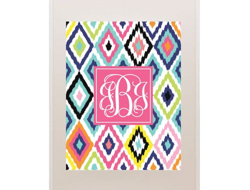 Awesome free printable Ikat monogram that you just type in your initials and then print!  Perfect for binder covers, framing and other fun projects!