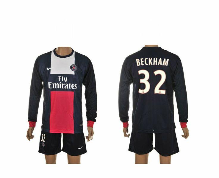 Maillot de Foot Psg (32 Beckham) Domicile Manche Longue Nike Collection 2013 2014 blanc Pas Cher http://www.korsel.net/maillot-de-foot-psg-32-beckham-domicile-manche-longue-nike-collection-2013-2014-blanc-pas-cher-p-2461.html