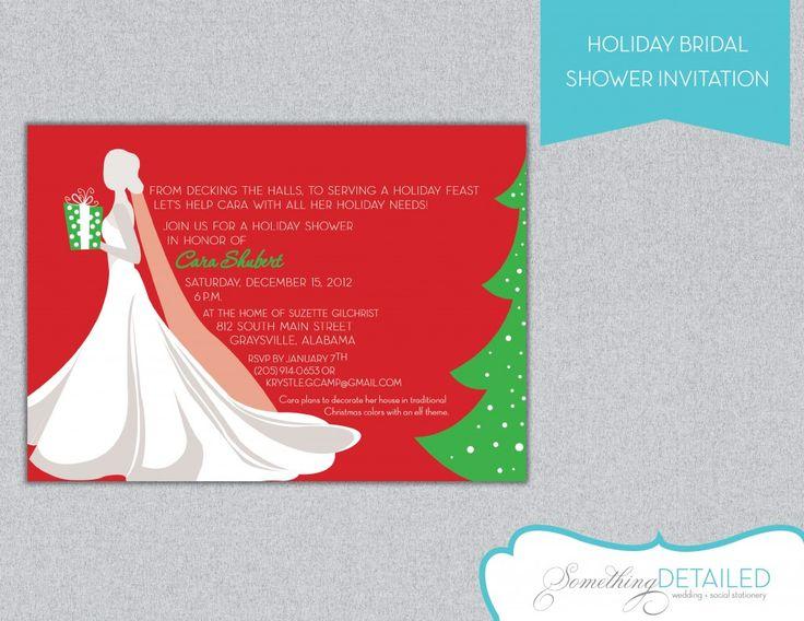 Holiday bridal showers christmas wedding shower ideas for Costco wedding invitations uk