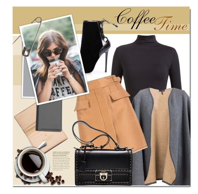"""Coffee Time"" by firstboutique ❤ liked on Polyvore featuring Loro Piana, Brooks Brothers, Brian Atwood and Salvatore Ferragamo"