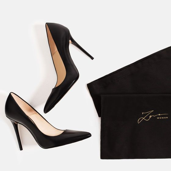 Image 4 of LIMITED EDITION LEATHER HIGH HEEL SHOES from Zara