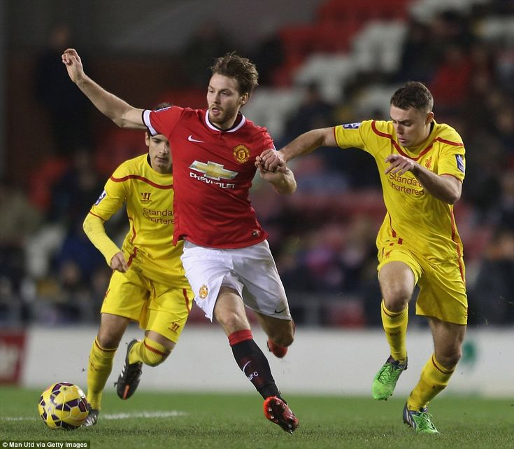 Nick Powell (left) was keen to impress after failing to shine during a loan spell at Leice...