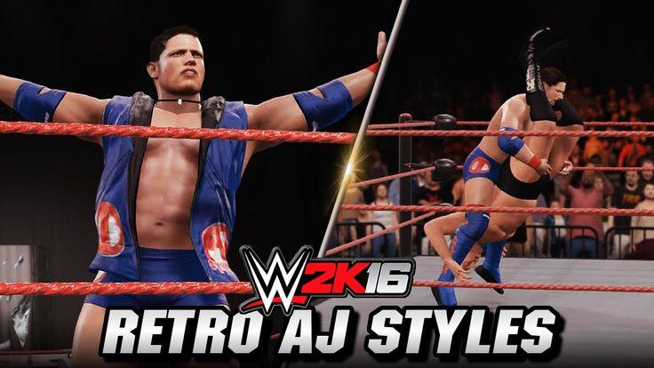 WWE 2K16 AJ Styles (Retro) Entrance, Signature & Finisher (Styles Clash)