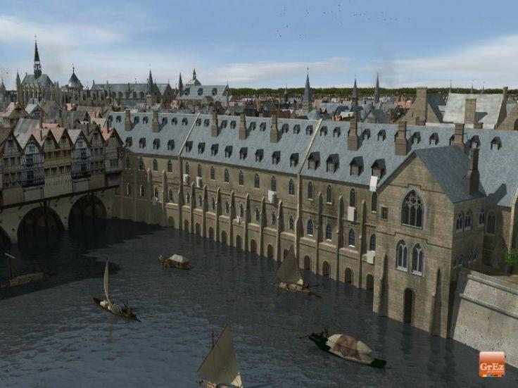 L'Hôtel Dieu a été le premier hôpital de Paris. Situé sur l'Ile de la Cité, il a été fondé en 651.  Des images de Paris au Moyen Age