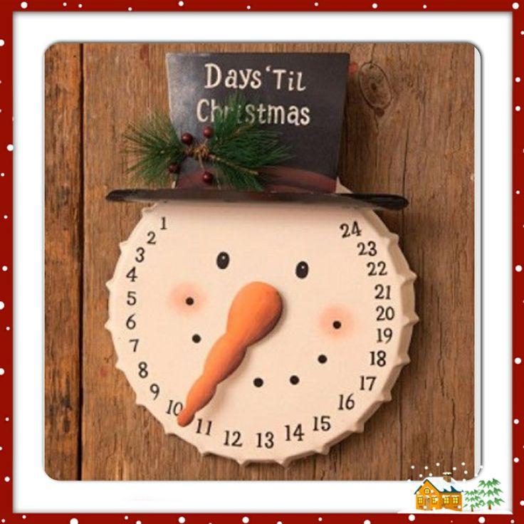 Snowman countdown clock