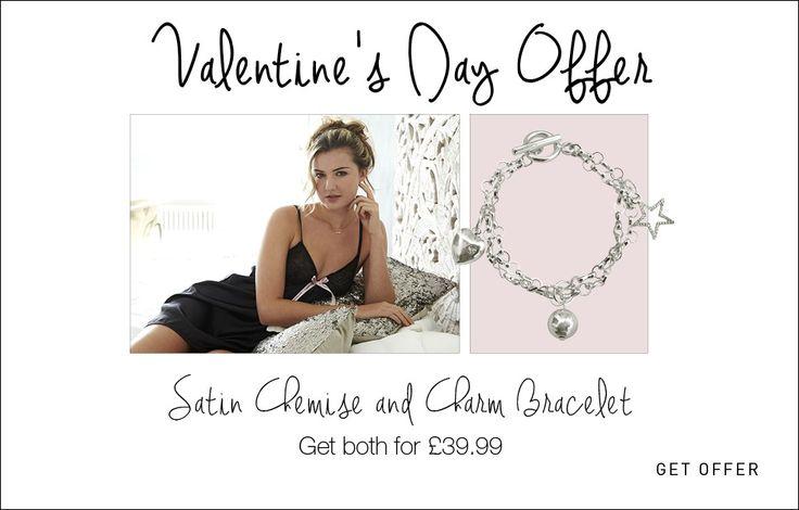 Black Satin Chemise and Charm Bracelet. www.agiftfromthegods.com