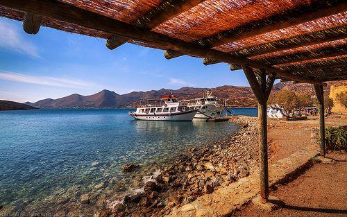 The Dock at Spinalonga, Elounda, Crete, Greece