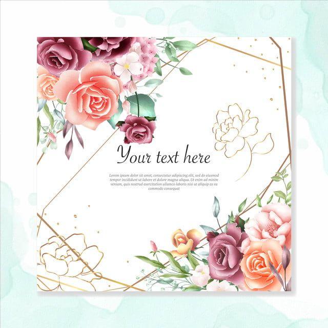 Akvarel Cvetochnye Ramy Mnogocelevoj Fon Wedding Greeting Cards Floral Watercolor Floral Business Cards