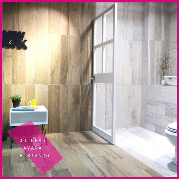 collezione SOLERAS AVANA e SOLERAS BIANCO perfette per il vostro bagno e la vostra sala! // SOLERAS AVANA and SOLERAS BIANCO perfect collection for your bathroom and your room! #abk #ceramica #cool #gres #ceramics #wood #wall #floor #design #decor #white #totalwhite #brown #tile #tiles
