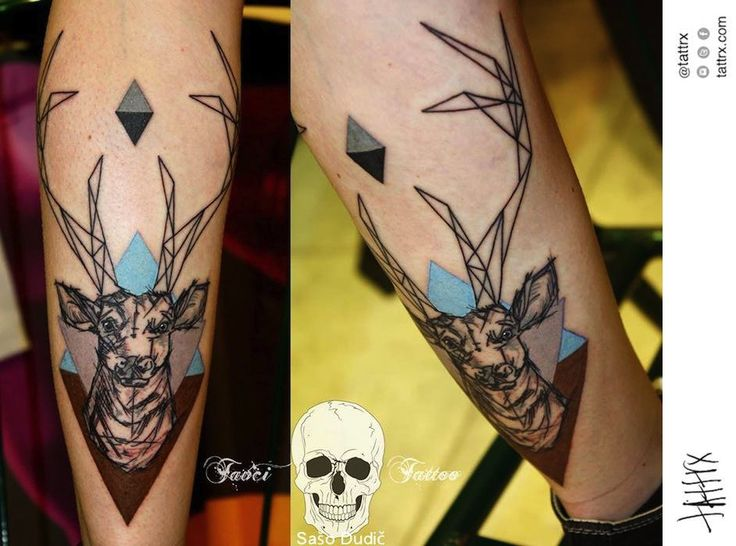 Sašo Dudič Tattoo - Deer for Nika