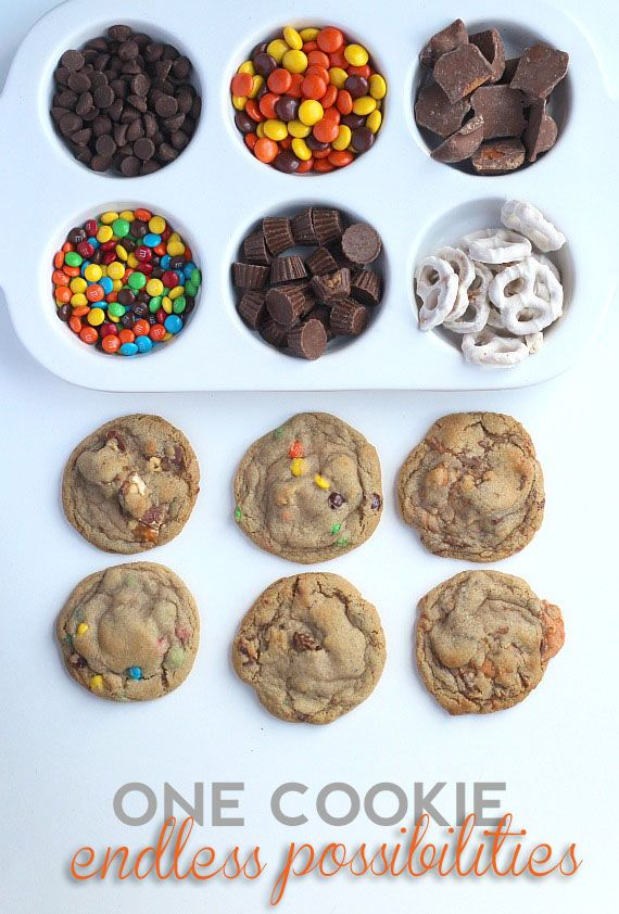 Perfect Cookie Base ~ The only cookie recipe you'll ever need! This would be a gret party...design your own cookie!