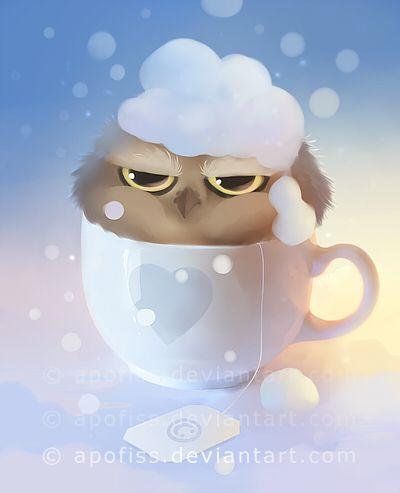 cup of owl by Apofiss.deviantart.com on @deviantART