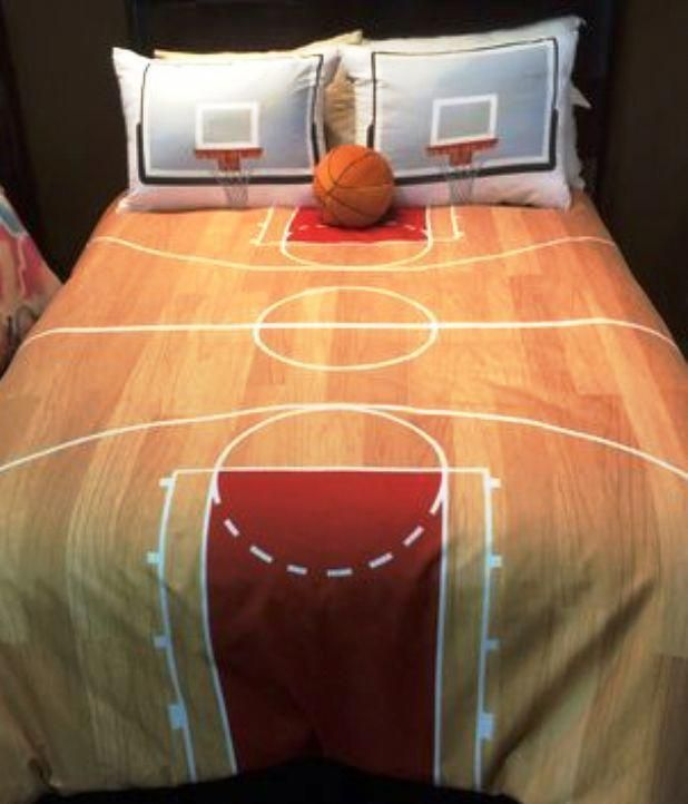 Hallmart Kids Courtside Comforter Set Boys Basketball Bedding