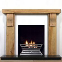 Newbury Rustic Oak Beam Fireplace