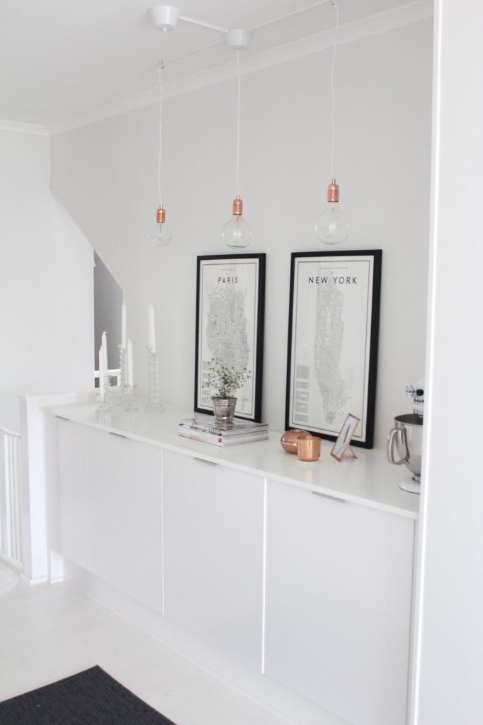 White black Cooper. Hallway Storage and Display.