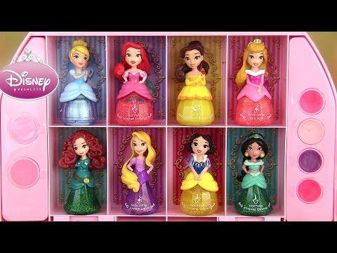 (133) Disney Princess Makeup Set Coffret Maquillage Little Kingdom Nail Polish Vernis Brillant à lèvres - YouTube