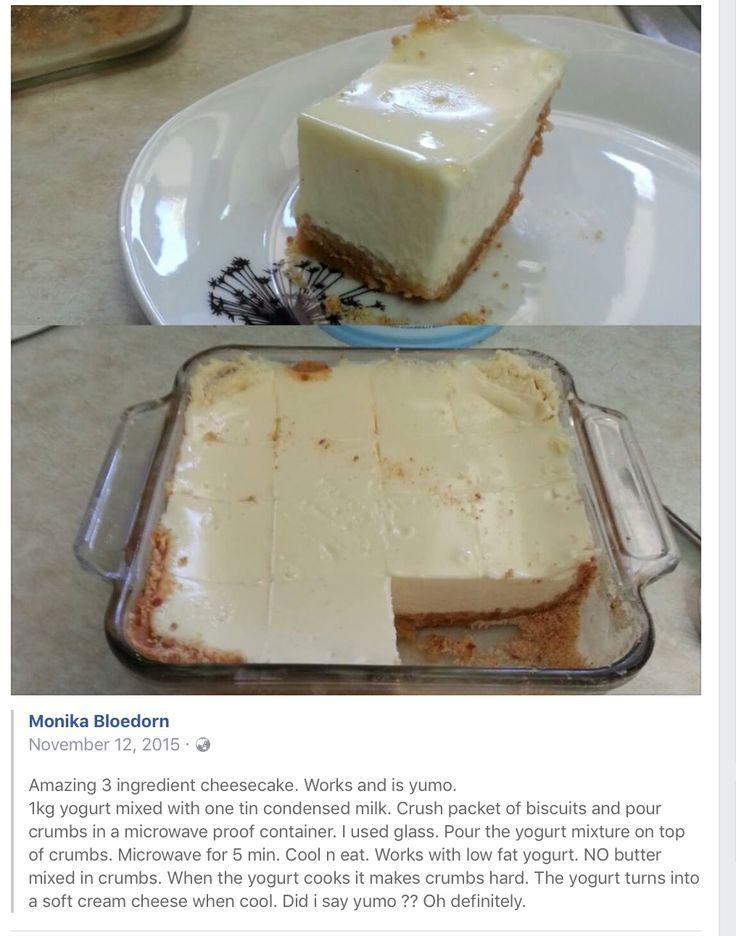 jogurt cheesecake 3ingredients
